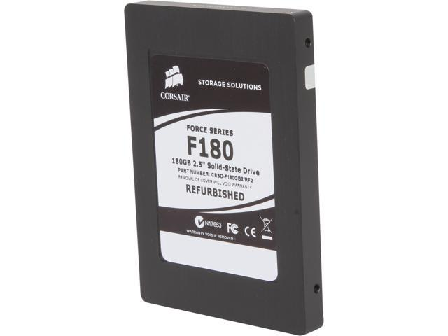"Manufacturer Recertified Corsair Force 2.5"" 180GB SATA II MLC Internal Solid State Drive (SSD) CSSD-F180GB2/RF2"