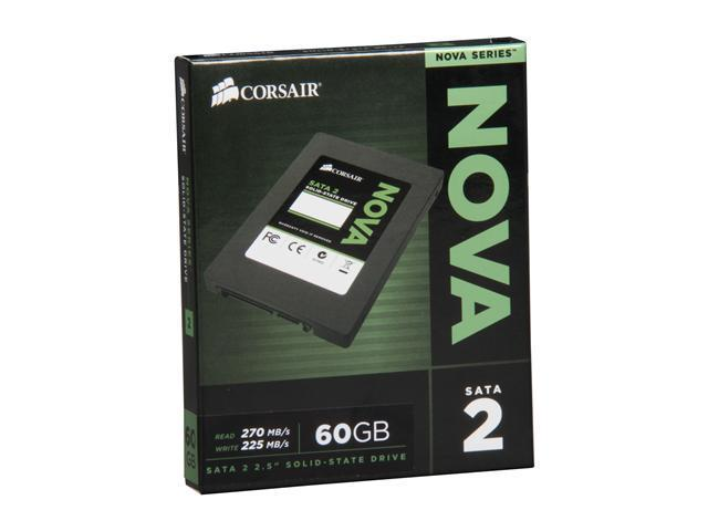 "Manufacturer Recertified Corsair Nova Series 2 2.5"" 60GB SATA II Internal Solid State Drive (SSD) CSSD-V60GB2/RF2"