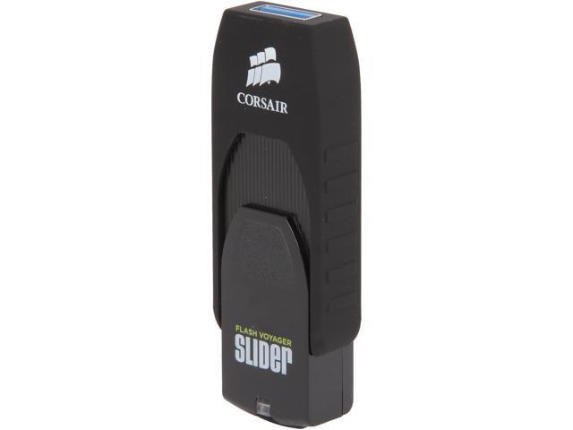Corsair Flash Voyager Slider USB 3.0 16 GB, Capless Design, Read 200 MBs, Plug and Play (CMFSL3B-16GB)