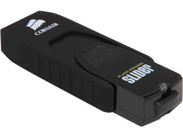 CORSAIR Voyager Slider 64GB USB 3.0 Flash Drive Model CMFSL3-64GB/RF