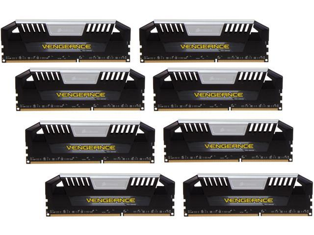 CORSAIR Vengeance Pro 64GB (8 x 8GB) 240-Pin DDR3 SDRAM DDR3 2133 (PC3 17000) Desktop Memory Model CMY64GX3M8A2133C11