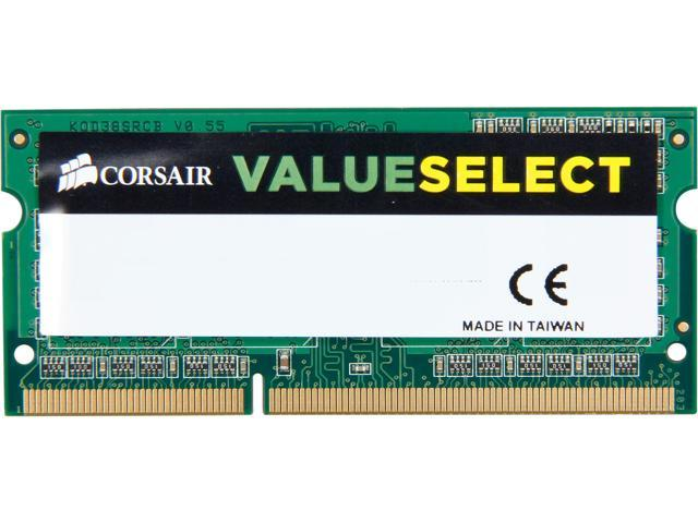 CORSAIR ValueSelect 2GB 204-Pin DDR3 SO-DIMM DDR3L 1600 (PC3L 12800) Laptop Memory Model CMSO2GX3M1C1600C11