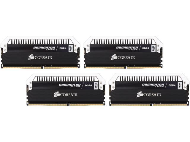 CORSAIR Dominator Platinum 32GB (4 x 8GB) 288-Pin DDR4 SDRAM DDR4 2666 (PC4 21300) Desktop Memory Model CMD32GX4M4A2666C15