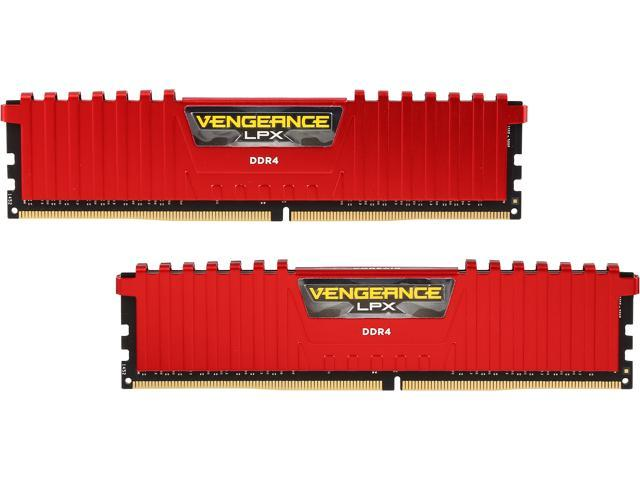 CORSAIR Vengeance LPX 8GB (2 x 4GB) 288-Pin DDR4 SDRAM DDR4 2666 (PC4 21300) Desktop Memory Model CMK8GX4M2A2666C16R