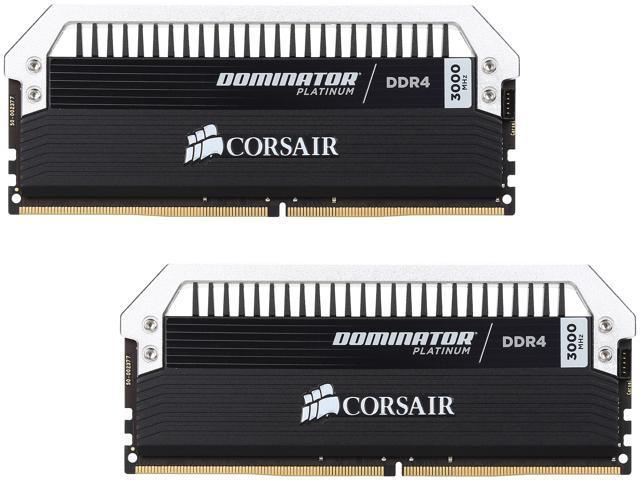 CORSAIR Dominator Platinum 16GB (2 x 8GB) 288-Pin DDR4 SDRAM DDR4 3000 (PC4 24000) Memory Kit Model CMD16GX4M2B3000C15