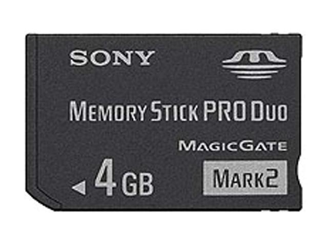 SONY 4GB Memory Stick Pro Duo (MS Pro Duo) Flash Card Model MSMT4G