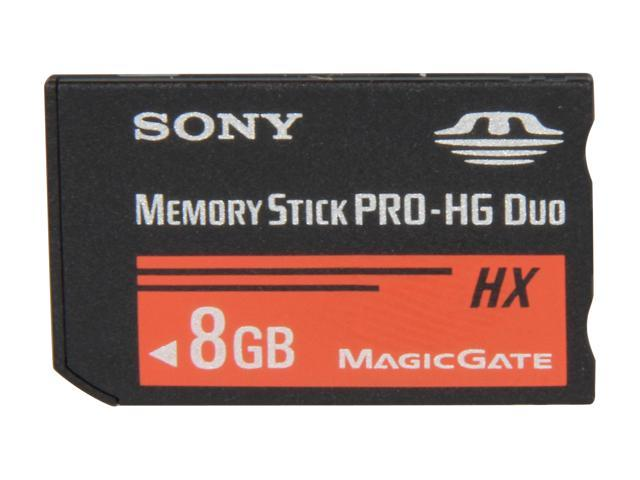 SONY 8GB Memory Stick PRO-HG Duo HX Flash Card Model MSHX8B