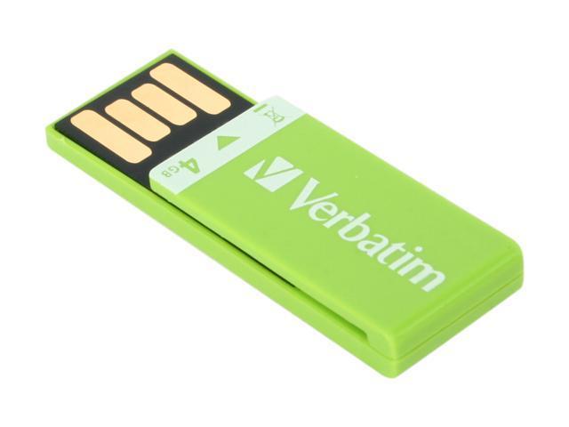 Verbatim Clip-it 4GB USB 2.0 Flash Drive (Green) Model 97556