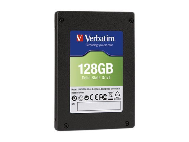 """Verbatim 2.5"""" 128GB SATA II Internal Solid State Drive (SSD) (Drive Only) 47478"""