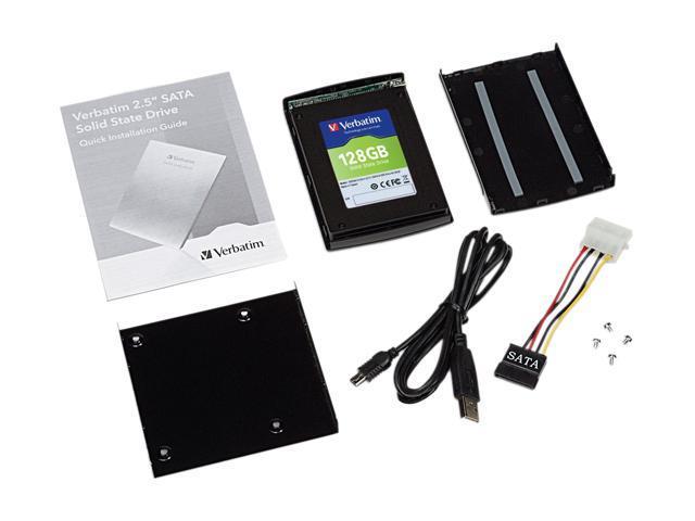 """Verbatim 47371 2.5"""" 128GB SATA II Internal Solid State Drive (SSD) (Upgrade Kit)"""