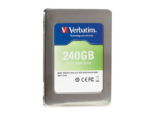 "Verbatim 2.5"" 240GB SATA III Internal Solid State Drive (SSD) (Drive Only) 47379"