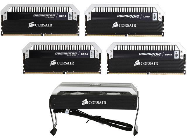 CORSAIR Dominator Platinum 16GB (4 x 4GB) 288-Pin DDR4 SDRAM DDR4 3200 (PC4 25600) Desktop Memory Model CMD16GX4M4B3200C14