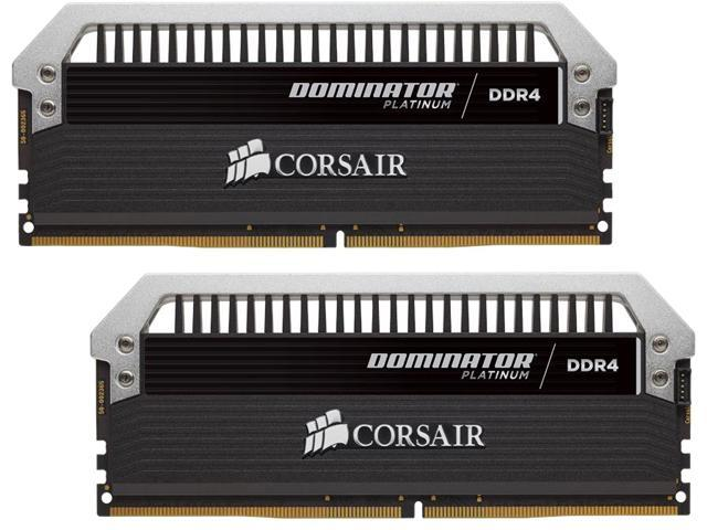 CORSAIR Dominator Platinum 8GB (2 x 4GB) 288-Pin DDR4 SDRAM DDR4 4000 (PC4 32000) Memory (Desktop Memory) Model CMD8GX4M2B4000C19