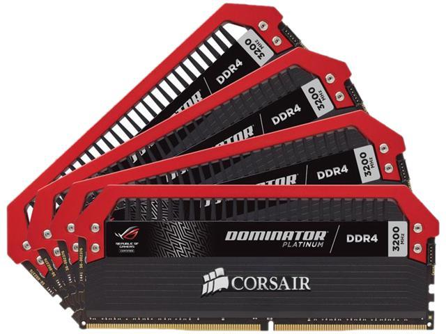 CORSAIR Dominator Platinum 16GB (4 x 4GB) 288-Pin DDR4 SDRAM DDR4 3200 (PC4 25600) Memory (Desktop Memory) Model CMD16GX4M4B3200C16RO