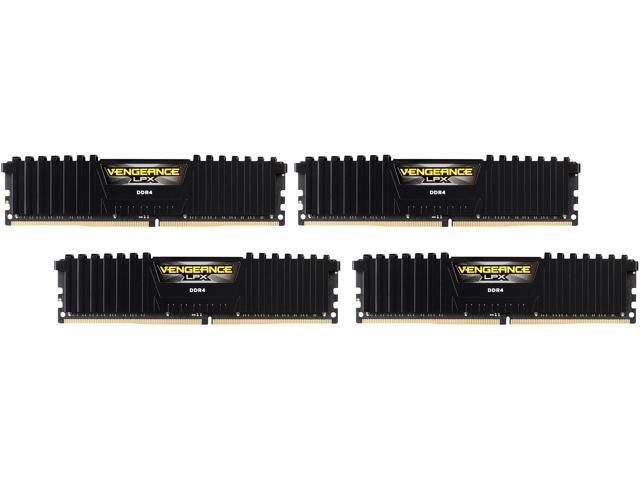 CORSAIR Vengeance LPX 64GB (4 x 16GB) 288-Pin DDR4 SDRAM DDR4 3000 (PC4 24000) Desktop Memory Model CMK64GX4M4C3000C15