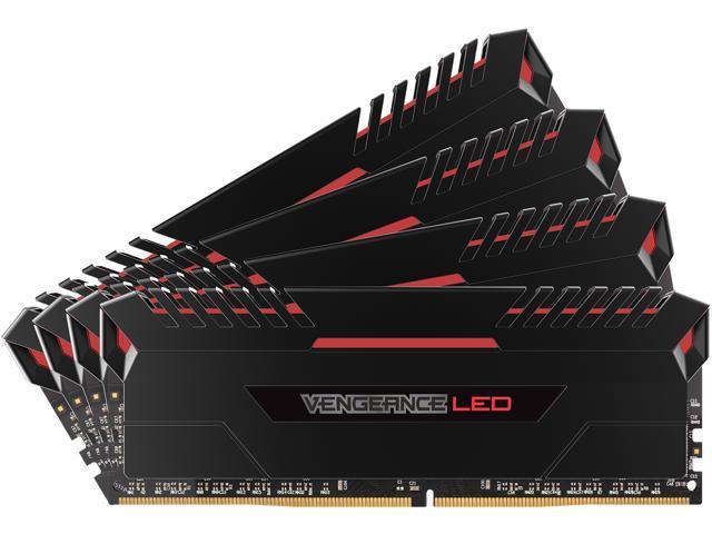 CORSAIR Vengeance LED 64GB (4 x 16GB) 288-Pin DDR4 SDRAM DDR4 3000 (PC4 24000) Memory (Desktop Memory) Model CMU64GX4M4C3000C15