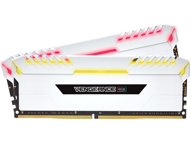 CORSAIR Vengeance RGB DRAM 32GB (2 x 16GB) 288-Pin DDR4 3200 (PC4 25600) Desktop Memory Model CMR32GX4M2C3200C16W