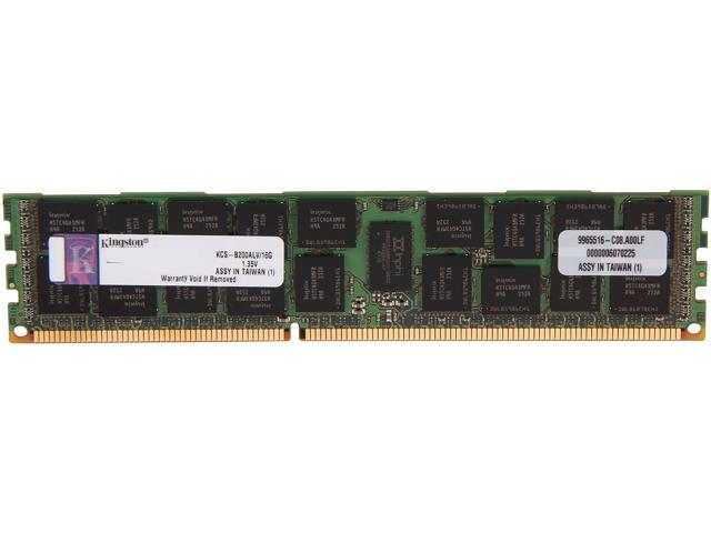 Kingston 16GB 240-Pin DDR3 SDRAM DDR3 1333 ECC Registered System Specific Memory Model KCS-B200ALV/16G