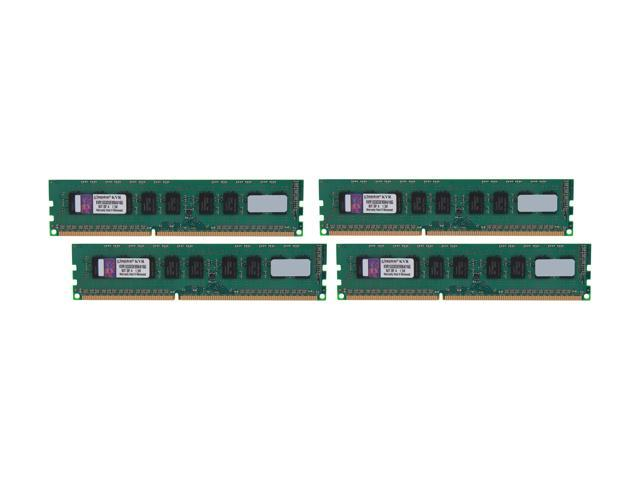 Kingston 16GB (4 x 4GB) 240-Pin DDR3 SDRAM ECC Unbuffered DDR3 1333 Server Memory w/TS Model KVR1333D3E9SK4/16G