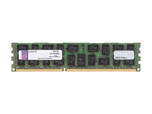Kingston ValueRAM 8GB 240-Pin DDR3 SDRAM ECC Registered DDR3 1066 Server Memory QR x8 w/TS Intel Model KVR10R7Q8/8I
