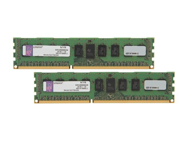 Kingston ValueRAM 8GB (2 x 4GB) 240-Pin DDR3 SDRAM ECC Registered DDR3 1333 Server Memory DR x8 Intel Model KVR13R9D8K2/8I