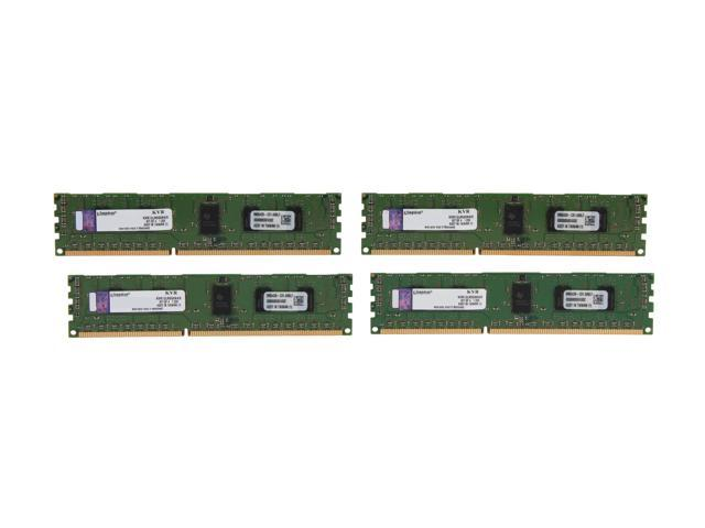 Kingston ValueRAM 8GB (4 x 2GB) 240-Pin DDR3 SDRAM ECC Registered DDR3 1333 Server Memory SR x8 1.35V Model KVR13LR9S8K4/8