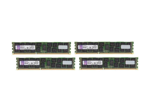 Kingston 64GB (4 x 16GB) 240-Pin DDR3 SDRAM ECC Registered DDR3 1333 Server Memory DR x4 Intel Model KVR13R9D4K4/64I
