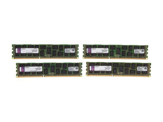 Kingston 32GB (4 x 8GB) 240-Pin DDR3 SDRAM ECC Registered DDR3 1333 Server Memory DR x4 1.35V Model KVR13LR9D4K4/32