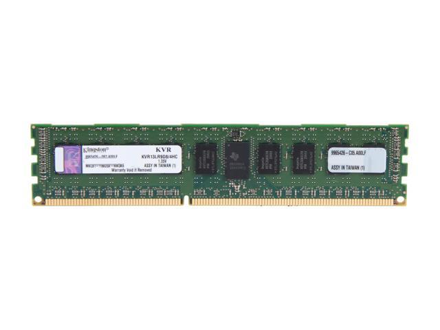 Kingston 4GB 240-Pin DDR3 SDRAM ECC Registered DDR3 1333 Server Memory DR x8 1.35V Server Hynix C Model KVR13LR9D8/4HC