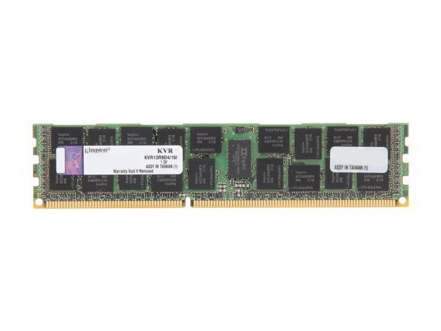 Kingston 16GB 240-Pin DDR3 SDRAM ECC Registered DDR3 1333 Server Memory DR x4 Intel Model KVR13R9D4/16I