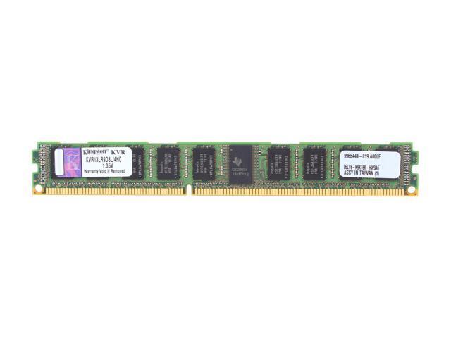Kingston 4GB 240-Pin DDR3 SDRAM ECC Registered DDR3 1333 Server Memory DR x8 1.35V VLP Server Hynix C Model KVR13LR9D8L/4HC