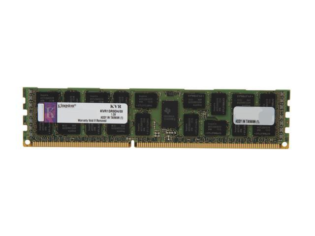 Kingston ValueRAM 8GB 240-Pin DDR3 SDRAM ECC Registered DDR3 1333 Server Memory DR x4 w/TS Intel Model KVR13R9D4/8I