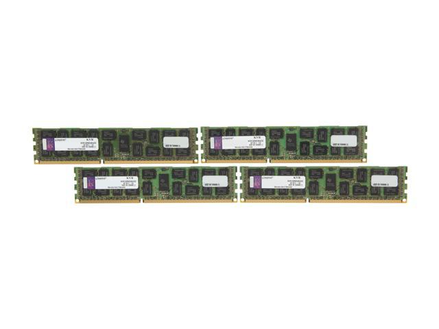 Kingston ValueRAM 32GB (4 x 8GB) 240-Pin DDR3 SDRAM ECC Registered DDR3 1333 Server Memory DR x4 Model KVR13R9D4K4/32