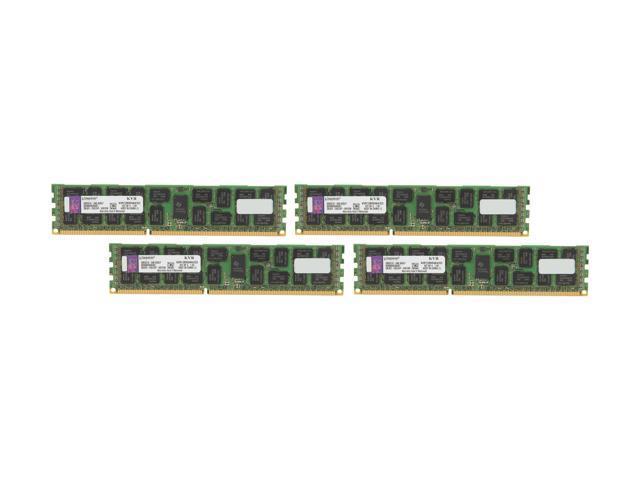 Kingston 32GB (4 x 8GB) 240-Pin DDR3 SDRAM ECC Registered DDR3 1333 Server Memory DR x4 Intel Model KVR13R9D4K4/32I