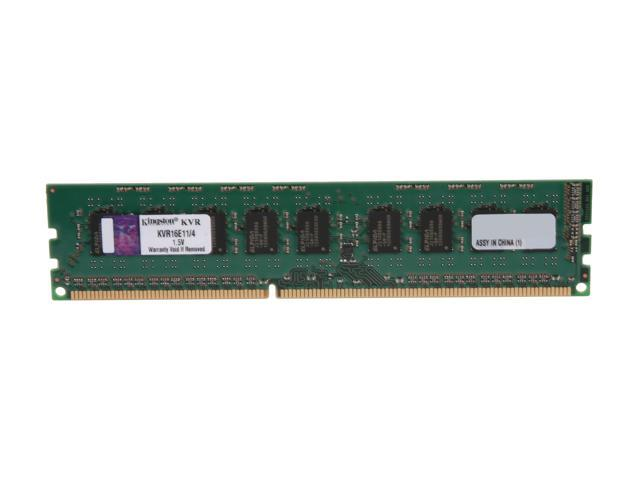 Kingston ValueRAM 4GB 240-Pin DDR3 SDRAM ECC Unbuffered DDR3 1600 Server Memory Model KVR16E11/4
