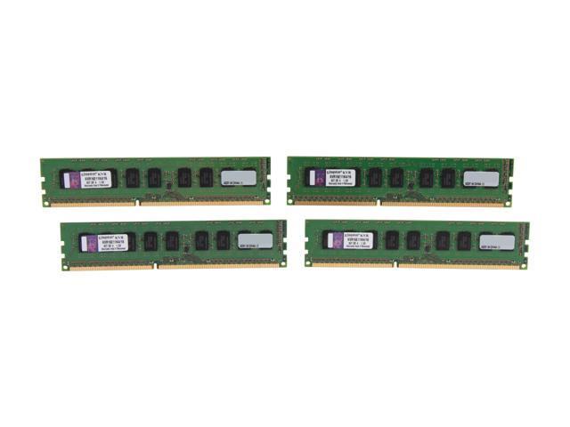Kingston 16GB (4 x 4GB) 240-Pin DDR3 SDRAM ECC Unbuffered DDR3 1600 Server Memory Model KVR16E11K4/16