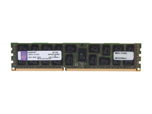 Kingston 8GB 240-Pin DDR3 SDRAM ECC Registered DDR3 1600 Server Memory DR x4 Hynix C Model KVR16R11D4/8HC
