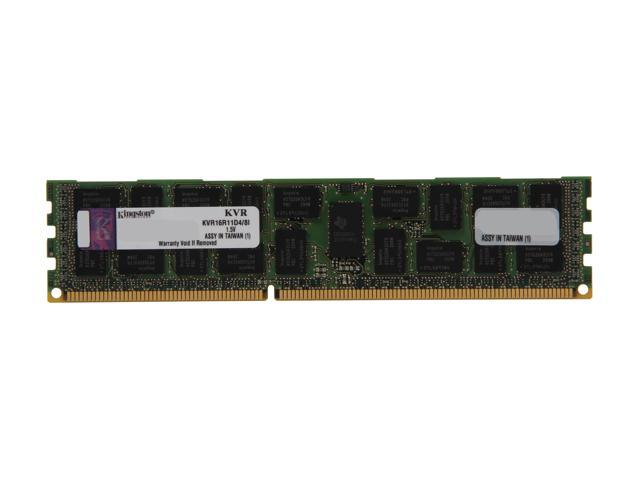 Kingston 8GB 240-Pin DDR3 SDRAM ECC Registered DDR3 1600 (PC3 12800) Server Memory DR x4 Intel Model KVR16R11D4/8I