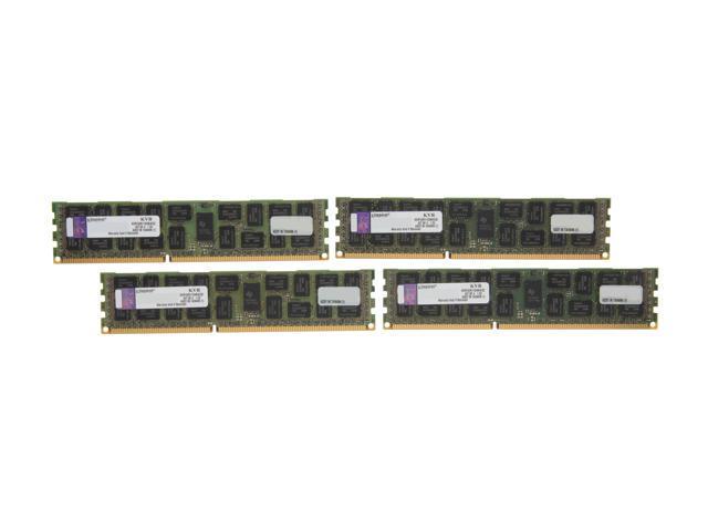 Kingston 32GB (4 x 8GB) 240-Pin DDR3 SDRAM ECC Registered DDR3 1600 (PC3 12800) Server Memory DR x4 Model KVR16R11D4K4/32