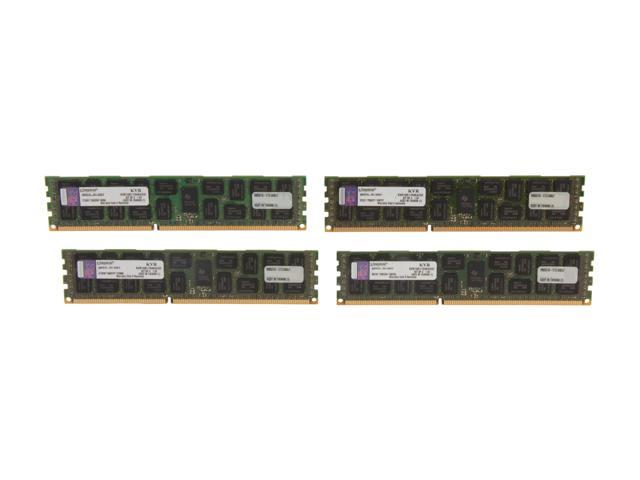 Kingston 32GB (4 x 8GB) 240-Pin DDR3 SDRAM ECC Registered DDR3 1600 Server Memory DR x4 Intel Model KVR16R11D4K4/32I