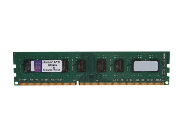 Kingston ValueRAM 4GB 240-Pin DDR3 SDRAM DDR3 1600 Desktop Memory Model KVR16N11/4