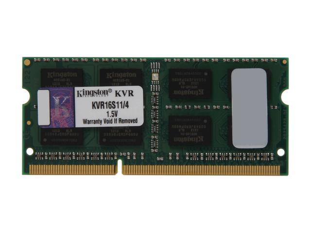 Kingston ValueRAM 4GB 204-Pin DDR3 SO-DIMM DDR3 1600 Laptop Memory Model KVR16S11/4
