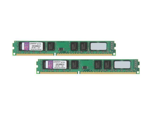 Kingston 16GB (2 x 8GB) 240-Pin DDR3 SDRAM DDR3 1333 Desktop Memory Model KVR13N9K2/16