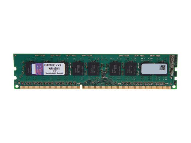 Kingston ValueRAM 8GB 240-Pin DDR3 SDRAM ECC Unbuffered DDR3 1600 Server Memory w/TS Model KVR16E11/8