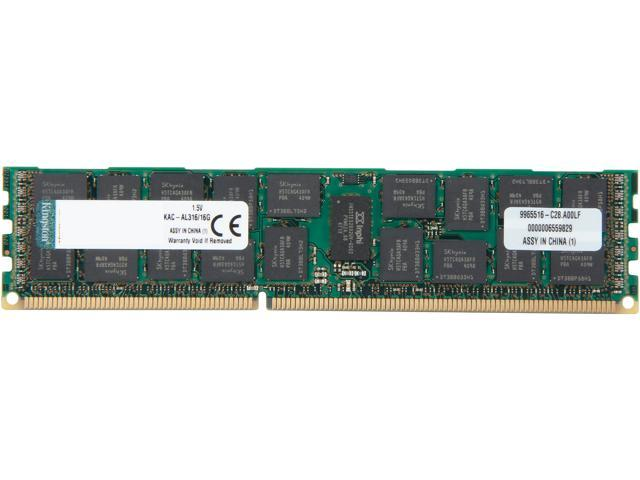 Kingston 16GB 240-Pin DDR3 SDRAM DDR3 1600 ECC Registered System Specific Memory Model KAC-AL316/16G