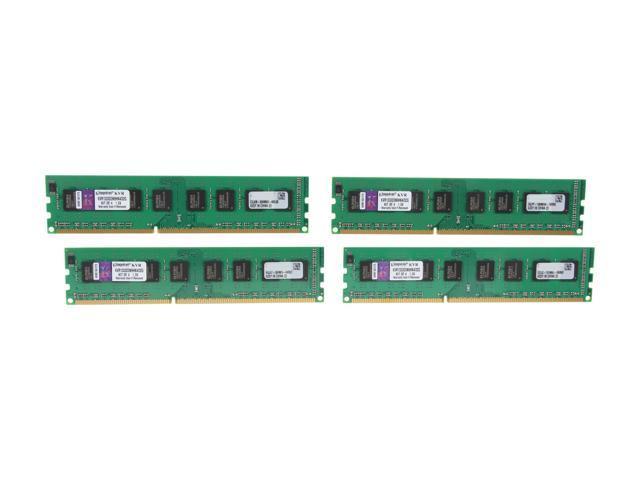 Kingston 32GB (4 x 8GB) 240-Pin DDR3 SDRAM Unbuffered DDR3 1333 Server Memory STD Height 30mm Model KVR1333D3N9HK4/32G