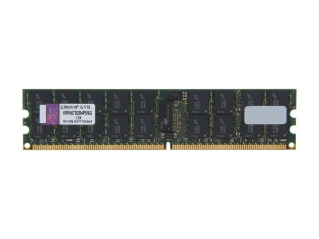 Kingston ValueRAM 8GB 240-Pin DDR2 SDRAM ECC Parity Registered DDR2 667 Server Memory Dual Rank, x4 Model KVR667D2D4P5/8G