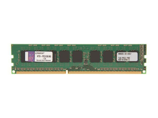 Kingston 8GB 240-Pin DDR3 SDRAM DDR3 1333 (PC3 10600) ECC System Specific Memory Model KTD-PE313E/8G