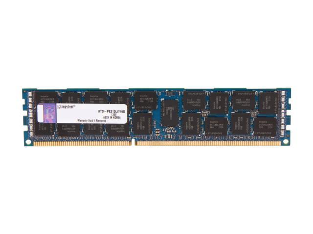 Kingston 16GB 240-Pin DDR3 SDRAM DDR3L 1333 (PC3L 10600) ECC Registered System Specific Memory Model KTD-PE313LV/16G