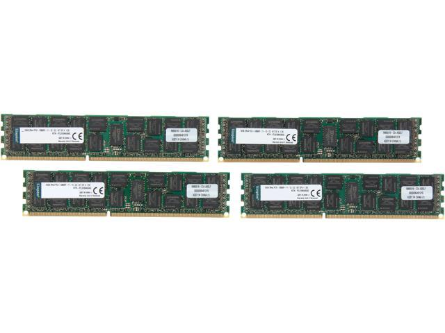 Kingston 64GB (4 x 16GB) 240-Pin DDR3 SDRAM DDR3 1600 ECC Registered System Specific Memory Model KTH-PL316K4/64G